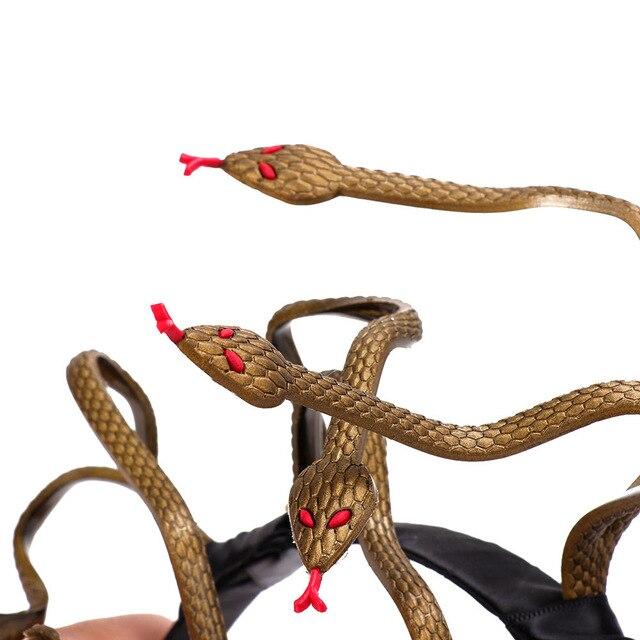 Cospty Halloween Carnival Burning Man Cosplay Costume Hair Clasp Accessory Animal Stirnband PVC Scary Medusa Snake Headband