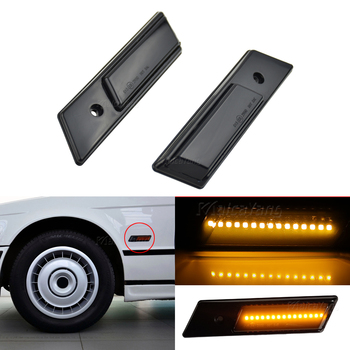 Side Lights Streamer Models Smoked Shell Cover Led Dynamic Turn Signal Light Marker Sequential Blinker Lamp For BMW E32 E34 E36 image