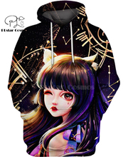 PLstar Cosmos anime cute girl Manga Cat Naughty 3d hoodies/Sweatshirt Winter autumn funny Harajuku streetwear