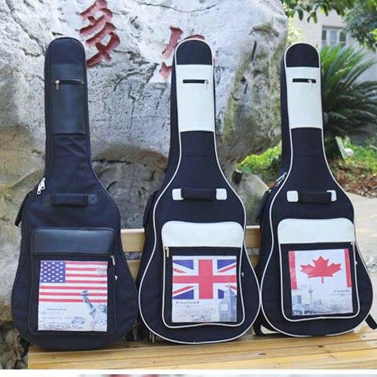 Étanche épaissir 40 41 Folk aplatir Balladry acier-ficelle acoustique classique sac de guitare étui sac à dos accessoires Gig
