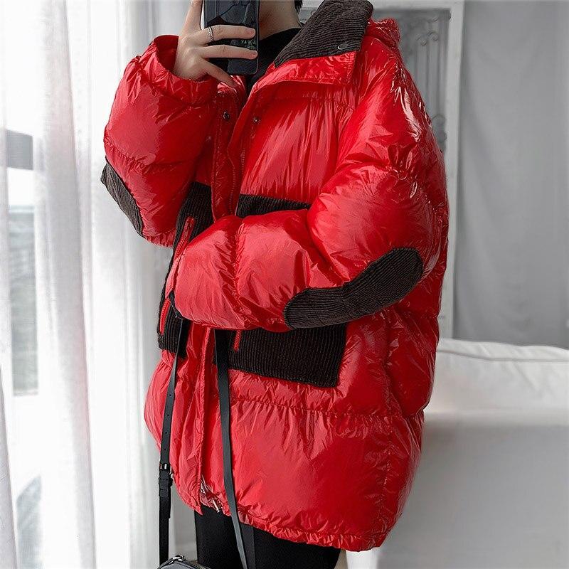 5XL grande taille rouge hiver veste hommes 2019 manteau à capuche chaud épais hommes vestes Parka pour homme extérieur fermeture éclair Streetwear vêtements