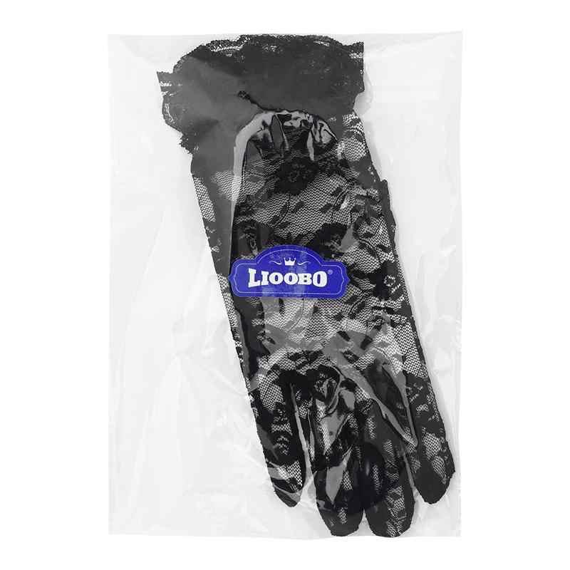 שחור חתונה כפפות מלאה אצבע נהיגה כפפות קצר שחור תחרה כפפות עבור חיצוני נשים כלה אביזרי חתונה