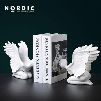 Modern minimalist ceramic book file decoration study office book by book creative desktop decorations crafts