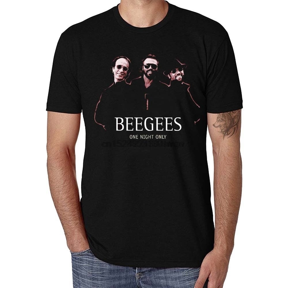100% Cotton Casual Slim Fit Funny Grapgic Short Sleeves Bee Gees T-Shirt For Men Women Tshirt