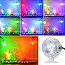 5 в красочный аквариумный светодиодный светильник ing Водонепроницаемый погружной светодиодный светильник для аквариума подводный светодиодный светильник электронная лампа для аквариума EU