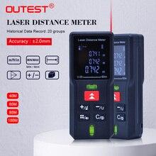 OUTEST 40 متر 60 متر 80 متر 100 متر الليزر Rangefinder الرقمية الليزر مقياس مسافات الليزر المدى مكتشف الشريط جهاز قياس المسافات حاكم اختبار أداة