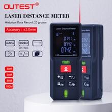 OUTEST 40M 60m 80m 100m לייזר מד טווח דיגיטלי לייזר מרחק מטר לייזר טווח Finder מרחק קלטת measurer שליט מבחן כלי