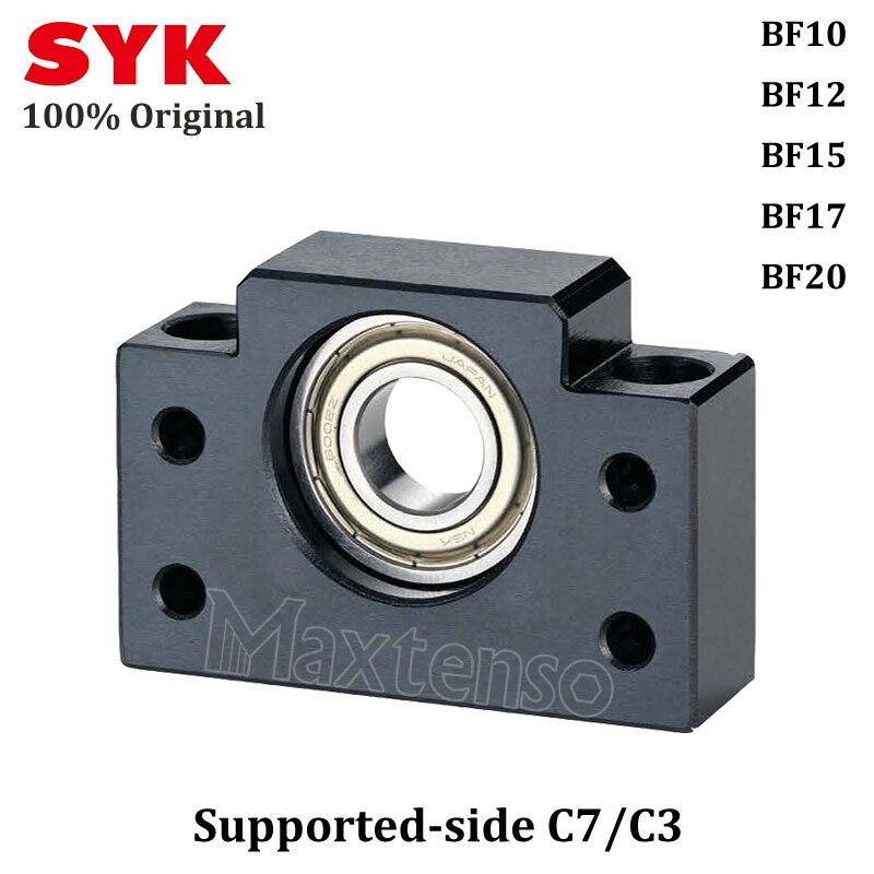 SYK Support unité professionnel BK10 BK12 BK15 BK17 BK20 côté fixe C3 C5 C7 pour vis à billes TBI sfu 1204 Premium bf12 CNC partie