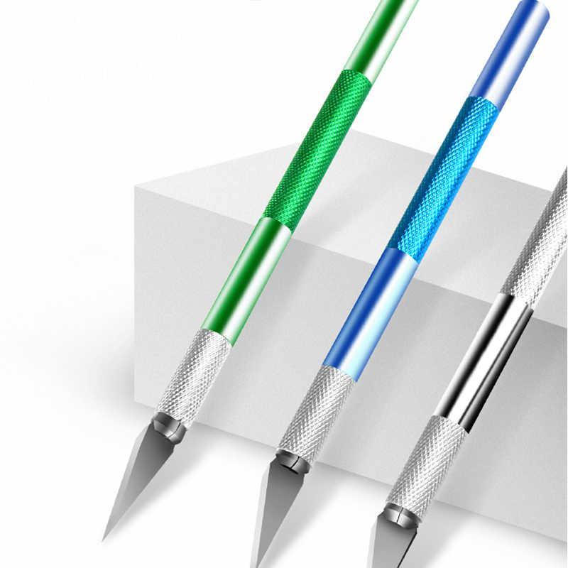 ユーティリティナイフ金属ハンドル手術用メスの刃ナイフ木材紙カッタークラフトペン彫刻切断用品 Diy モデルハンドツール
