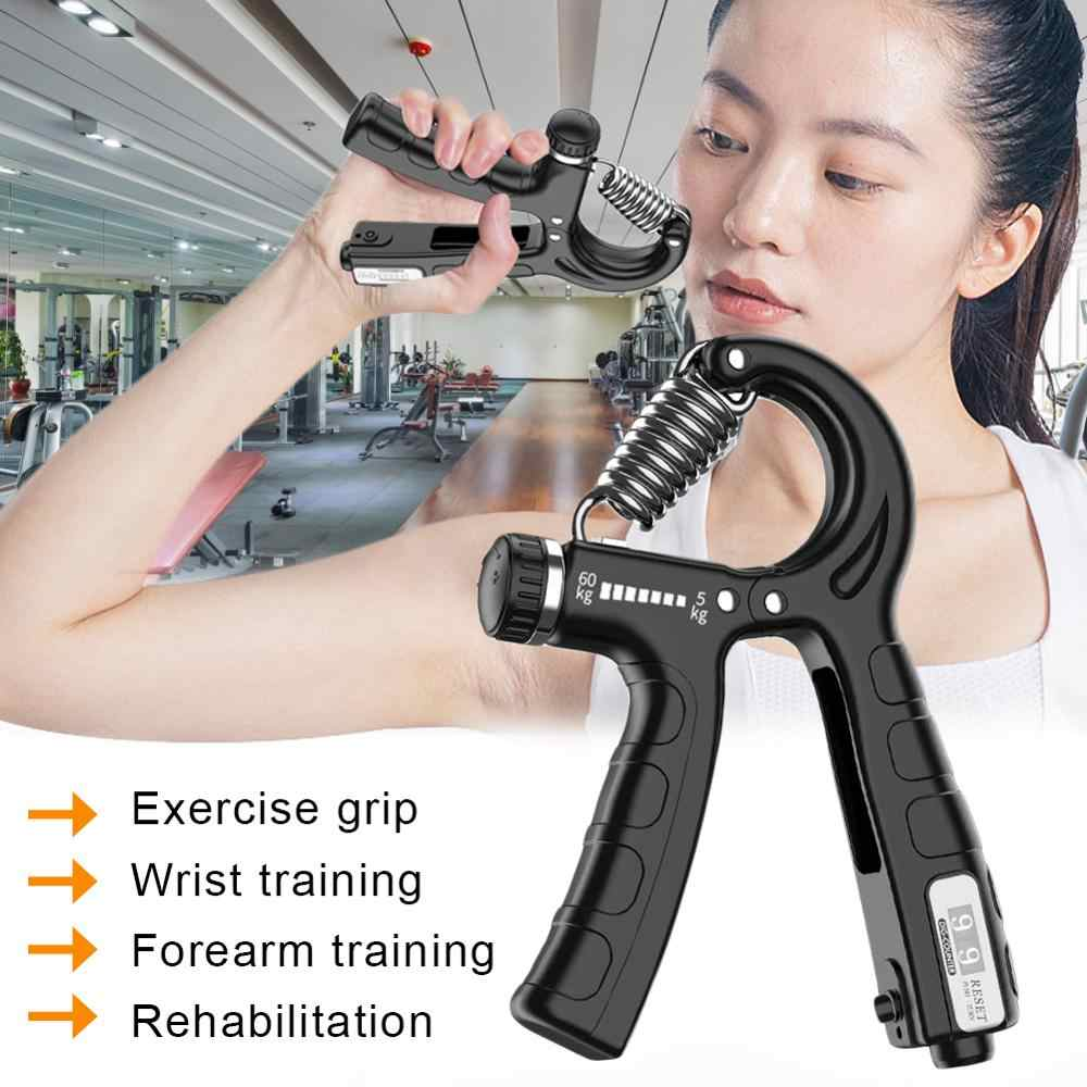 R-Shape Adjustable Countable Hand Grip Strength Exercise Fitness Equipment HSG