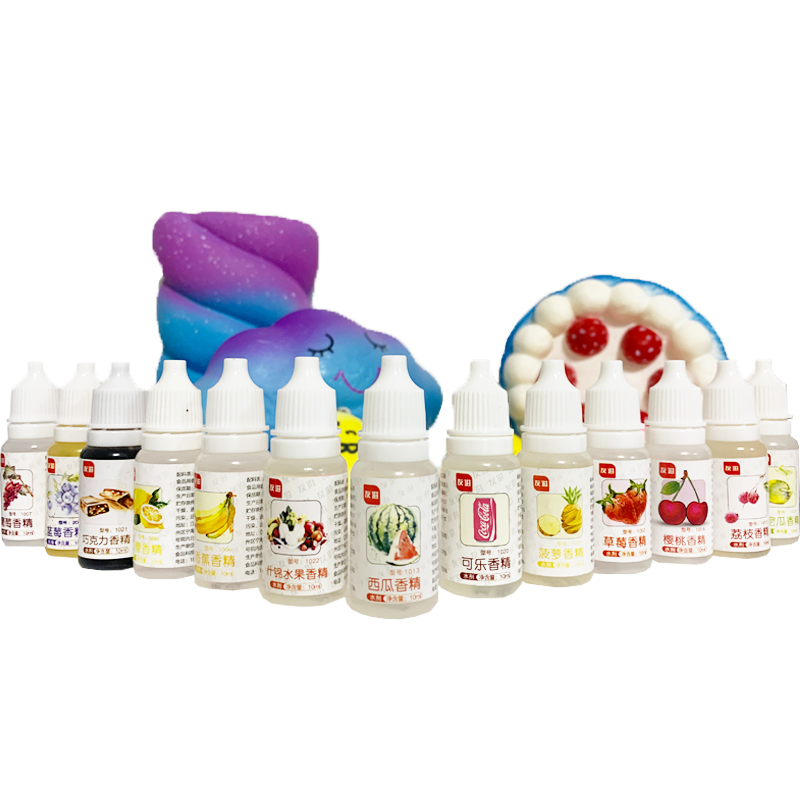 10ml Diy Flavor Slime Polymer Clay Flavor Liquid Additive Glue For Slime Fruit Aroma Flavors Accessories Charms Toys Gift(China)