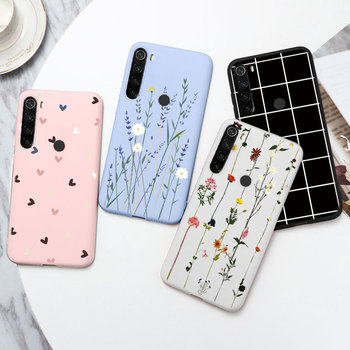 Love Heart Silicone Case For Xiaomi Redmi Note 8T Case Cover Flowers Soft TPU Funda For Redmi Note8T Note 8t 8 T Case Back Cover image