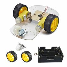 High Quality Remote Control Toy Parts Original New Black Yellow DIY 2-Wheel Smart Robot Car Chassis Kit Set for Arduino Parts(China)
