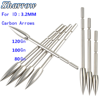 12/30pcs Archery Arrowhead Target Point Tips ID3.2mm 80/100/120Grain Stainless Steel for Carbon Arrow Hunting Shooting 3 6 12pcs 100gr archery blade arrowhead stainless steel broadheads target arrow point tips hunting shooting accessories