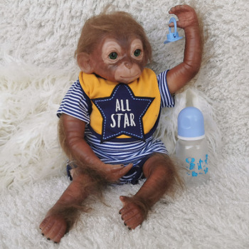 Baby Reborn Silicone And Realistic Lifelike Monkey Boys Girls Toys Popular Reborn Toddler Baby Dolls Bebe Doll Reborn Soft Touch cute 40cm realistic lifelike reborn baby doll bebe reborn doll playing toys for kids christmas gift soft silicone dolls