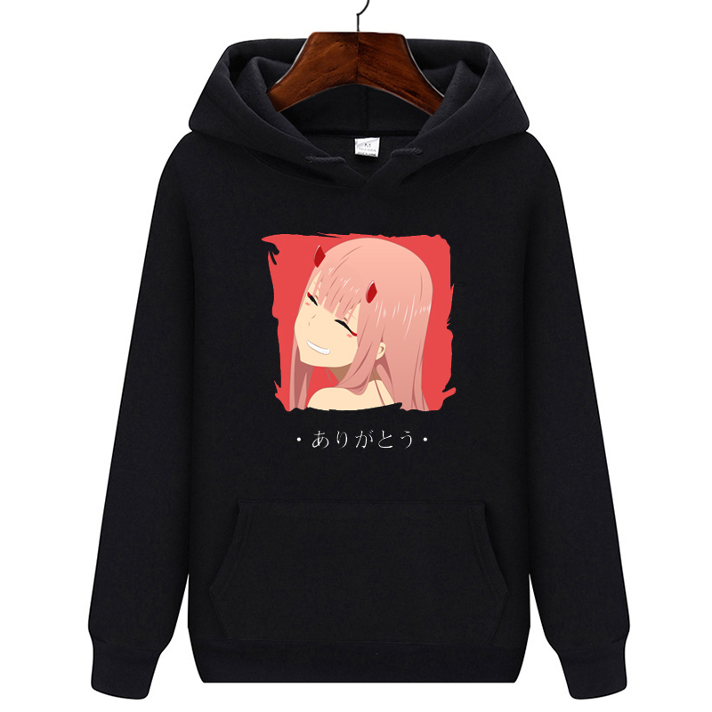 Anime Darling In The Franxx Zero Two Men Hoodies 2020 New Harajuku Casual Streetwear Funny Graphic Sweatshirts Unisex Hoodies