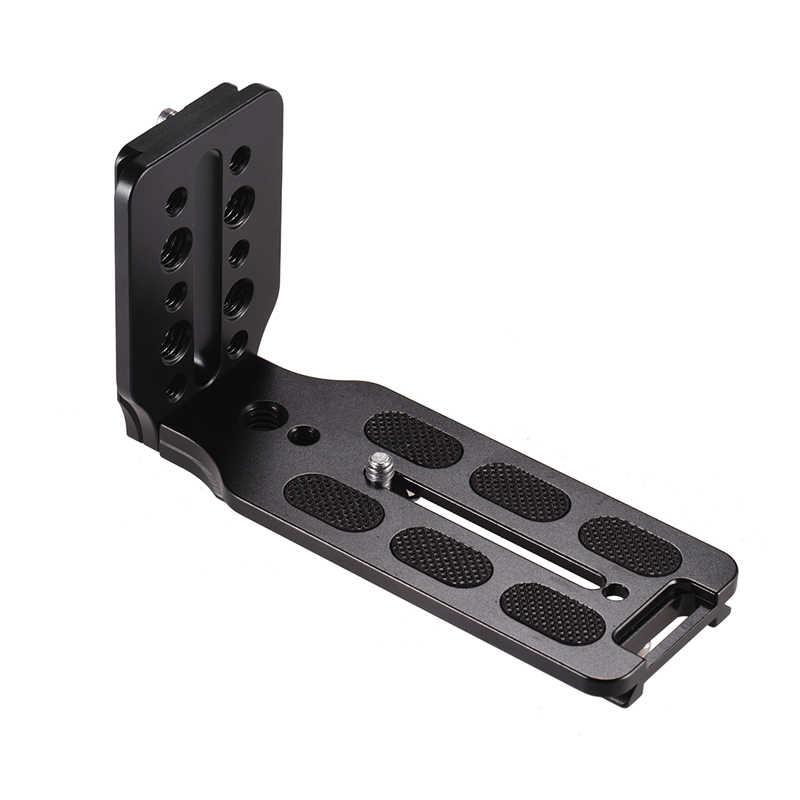 Soporte de Disparo Vertical QR en forma de L, placa de liberación rápida para cámara DSLR Canon, Nikon y Sony para grúa Zhiyun 2/3, Moza AIR Feiyu