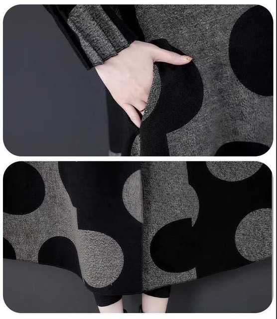 High Quality Fashion  Autumn Winter Women's  Woolen Long Coats Loose Middle Aged Mother Oversized Plaid Cape Drop-shoulder Wool 6