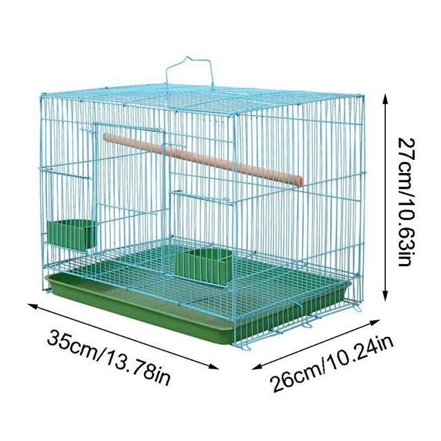 Wire Rectangular Bird Cage 3