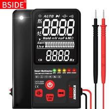 BSIDE 디지털 멀티 미터 EBTN 디스플레이 아날로그 테스터 DC AC 전압계 커패시턴스 다이오드 NCV Ohm Hz 테스트 LED 라이브 전압 표시기