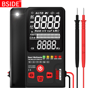Image 1 - BSIDE multímetro Digital, probador analógico de pantalla EBTN, voltímetro DC AC, diodo de capacitancia, NCV Ohm Hz, indicador LED de voltaje en vivo