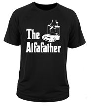 2019 New Cool Tee Shirt T T-shirt Italian Classic Car The Alfa Father 156