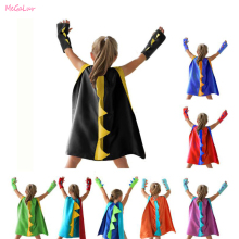 2Pcs/Set Kids Boy Girl Children's Dinosaur Cloak Halloween Party Kid Cosplay Costume Birthday Children's Day Performance Costume недорого