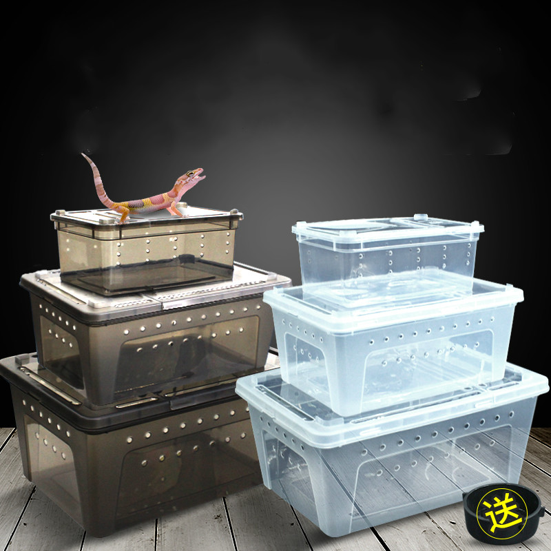 1PCS Climbing Pet Breeding Box Spider Frog Silkworm Baby Breeding Box Sericulture Yellow Mealworm Reptile Insect Box