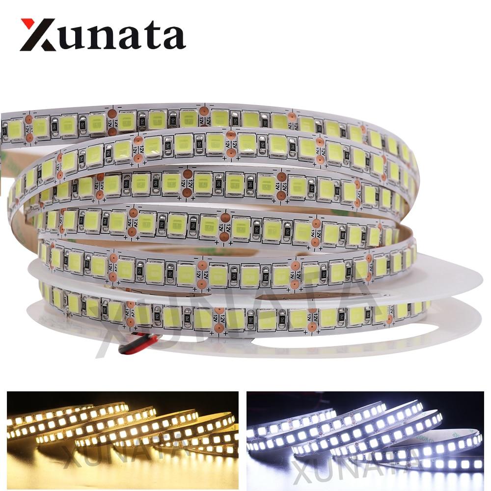 5054 LED Strip DC 12V Light Super Brighter 60LEDs/m 120LEDs/m Waterproof Flexible Ribbon Tape LED Lights Strip Lamp 5m