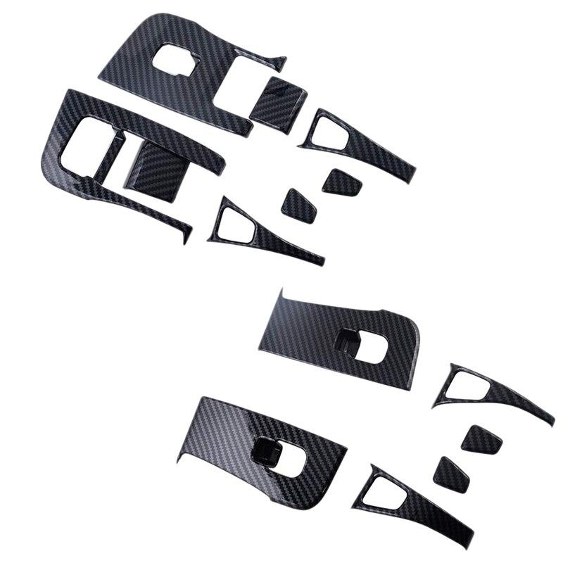 14Pcs Car Inner Door Armrest Window Lift Button Cover Trim Kit For Tesla Model 3 2018 2019 Window Lift Cover Trim
