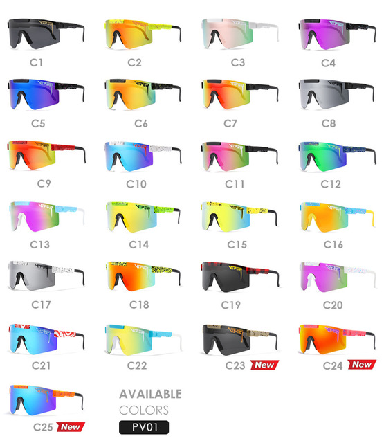 Pit Viper Cool Mirror Polarized Sunglasses Men TR90 Anti Resistance Safety Goggle Women Overized Shades With Free Box 5