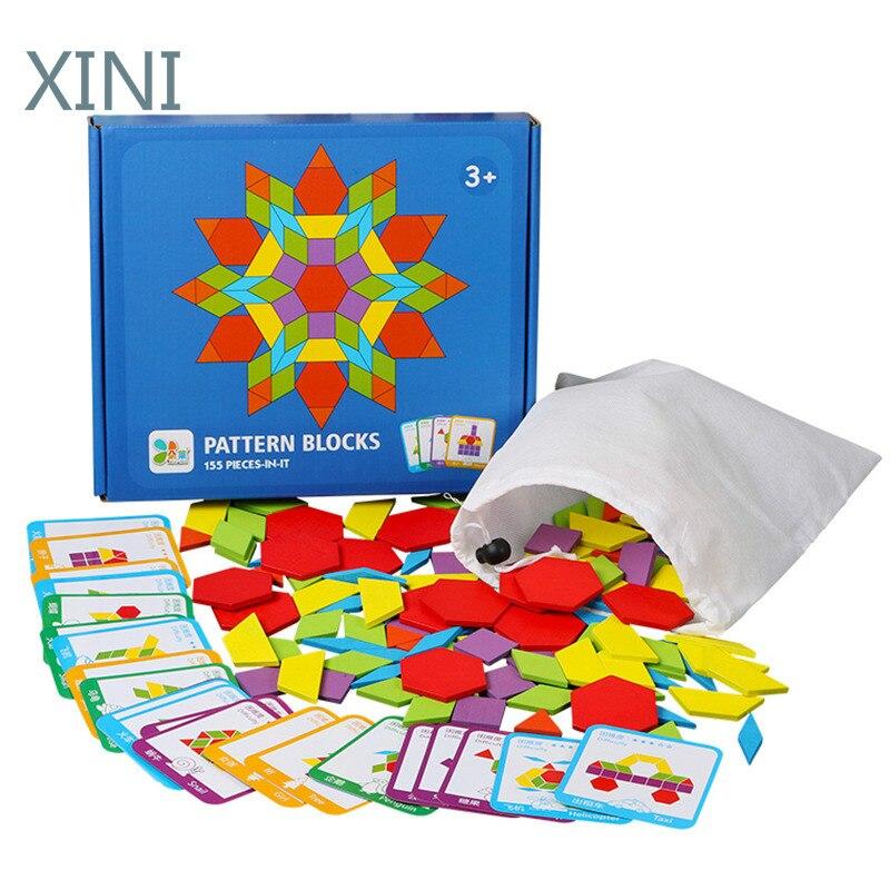 155 шт творческие головоломки игры с мячом Развивающие игрушки для головоломка для детей обучения детей развивающая деревянная Игрушки для ...