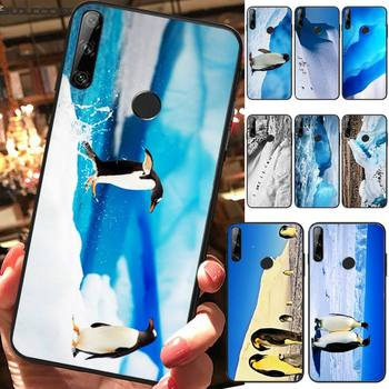 Honest And Cute Antarctic Penguin Phone Case For Huawei Y5 Y6 Y7 Y9 Prime Pro II 2019 2018 Honor 8 8X 9 Lite View9 image