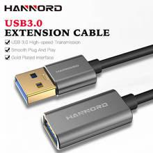 Hannord USB כבל מאריך זכר לנקבה USB כבל USB 3.0 הארכת כבל מאריך נתונים כבל למחשב מקלדת מדפסת חכם טלוויזיה