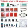 XGECU 100% Original New TL866II Plus Universal Minipro Programmer+24 Adapters+Test Clip TL866  PIC Bios High speed Programmer