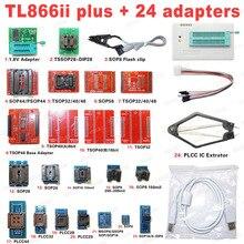 مبرمج XGECU 100% أصلي جديد TL866II Plus Universal Minipro + 24 محول + مشبك اختبار TL866 PIC Bios مبرمج عالي السرعة
