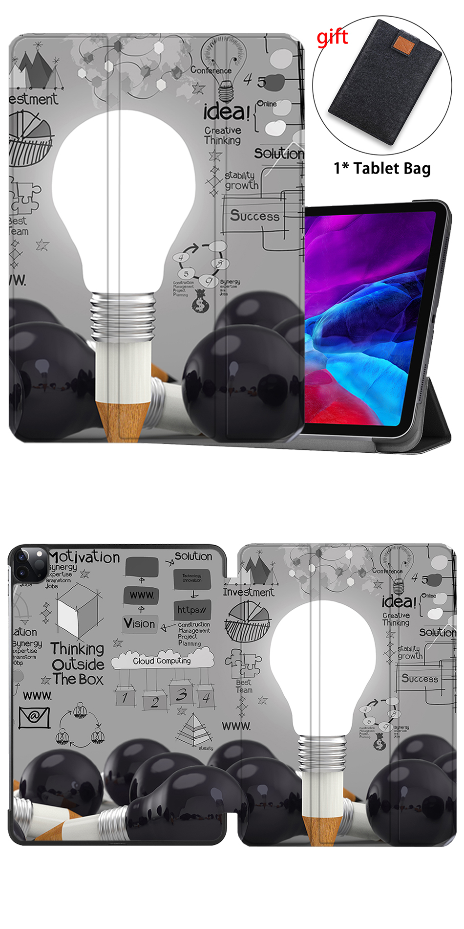 12.9 iPad Flip Magnetic For 2020 inch PU A2233 Case MTT Leather Pro Model Release A2229