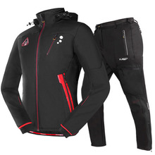 Cycling Bike Warm Thermal Fleece Windproof Pant Suit Jersey-Set Sportswear Jacket Winter