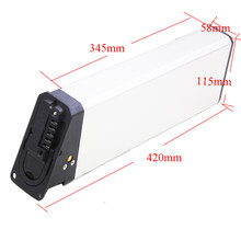 Ebike 48V Li-ion Battery Pack 48V 16ah 17ah 17.5ah Lipat Electric Bike Battery Sinar X Sepeda(China)