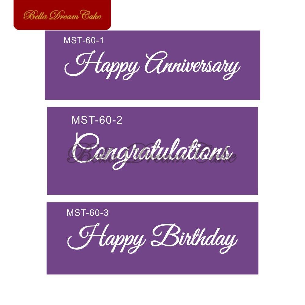 US $7 2 OFF Selamat Ulang Tahun Ulang Tahun Selamat Santai Kata Kata Mesh Stensil Frabic Pesta Kue Stensil Alat Dekorasi Kue Alat Pembuat Roti Kue
