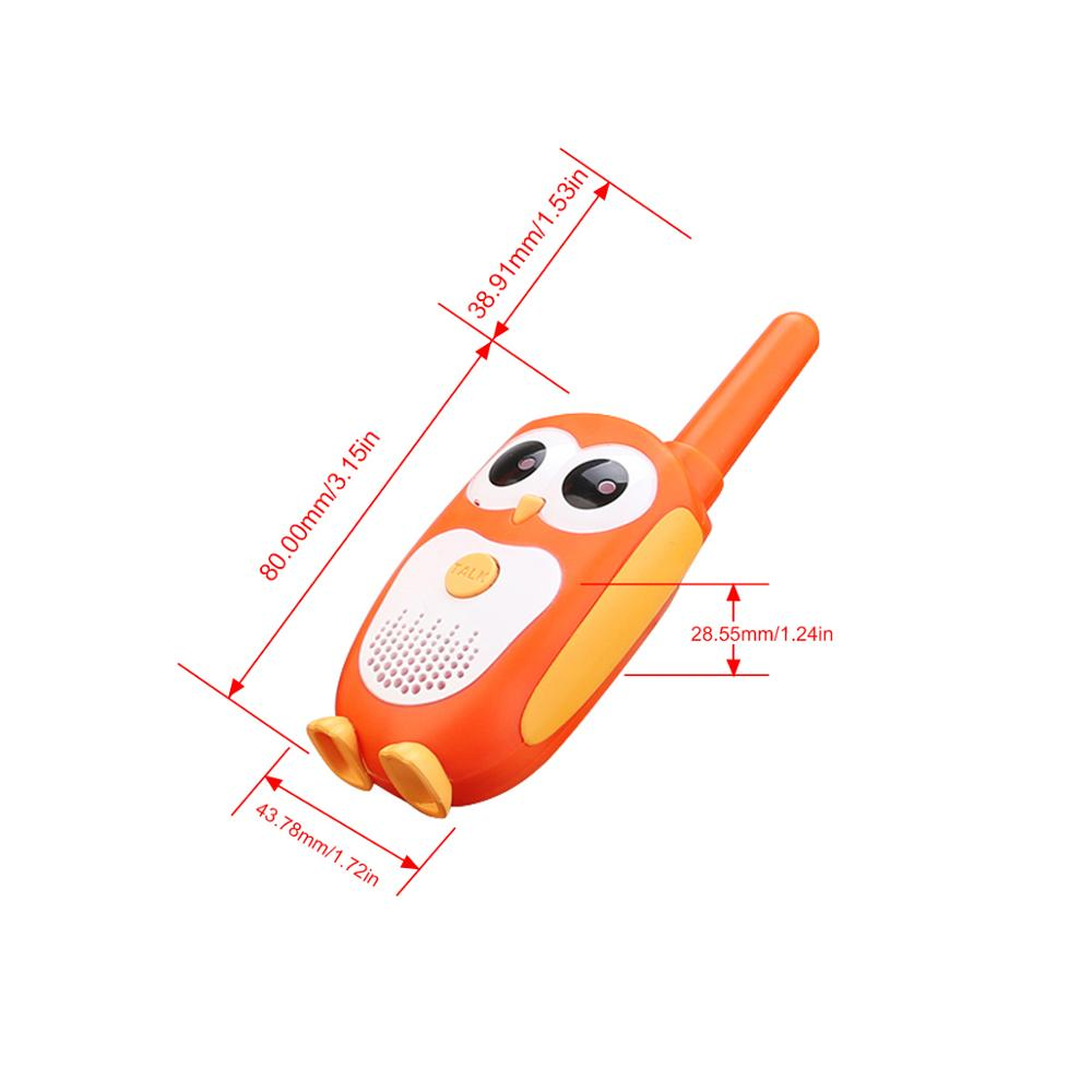 Retevis RT30 License-free Mini Walkie Talkie For Kids Owl Design PMR 446 Portable Two Way Radio  And SV201 6X18 Binoculars Sets