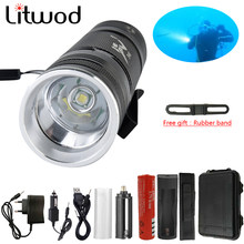 Litwod Z90 D84 LED Diving Flashlight XM-T6 Underwater Flashlights Waterproof Portable Lantern Lights dive light Lamp Torch(China)