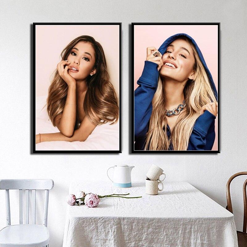 Ariana Grande Pop Music Star Singer Beauty Art Painting Silk Canvas Poster Wall Home Decor Artwork картины на стену
