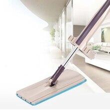 ABRA-Flache Mop Free Hand Waschen Edelstahl Griff Spin Mopp Home Haus Büro Reinigung Werkzeug Mikrofaser Pad Küche boden Cle