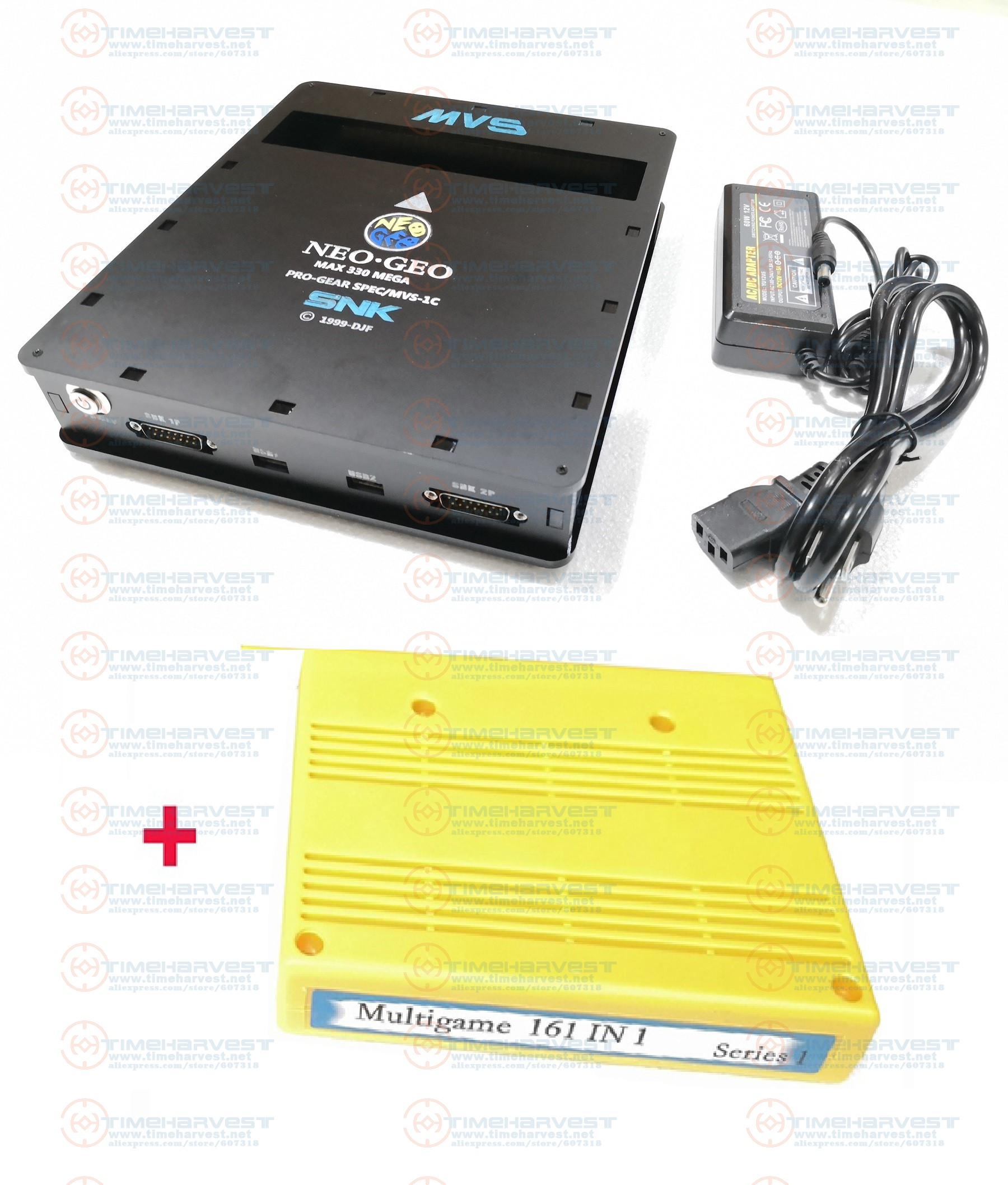 New Version JAMMA USB <font><b>CBOX</b></font> SNK Super CMVS 1C to DB15 SNK Joypad & USB Gamepad with 161 in 1 Game Cartridge for Family play time image