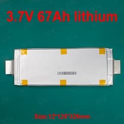 Batterie de polymère de Lithium de 3.7V 67Ah aucun 3.7v 60Ah ou 70Ah pour le bricolage 12V 24V scooter voiture début touristique chariot de golf stockage d'énergie RV AGV