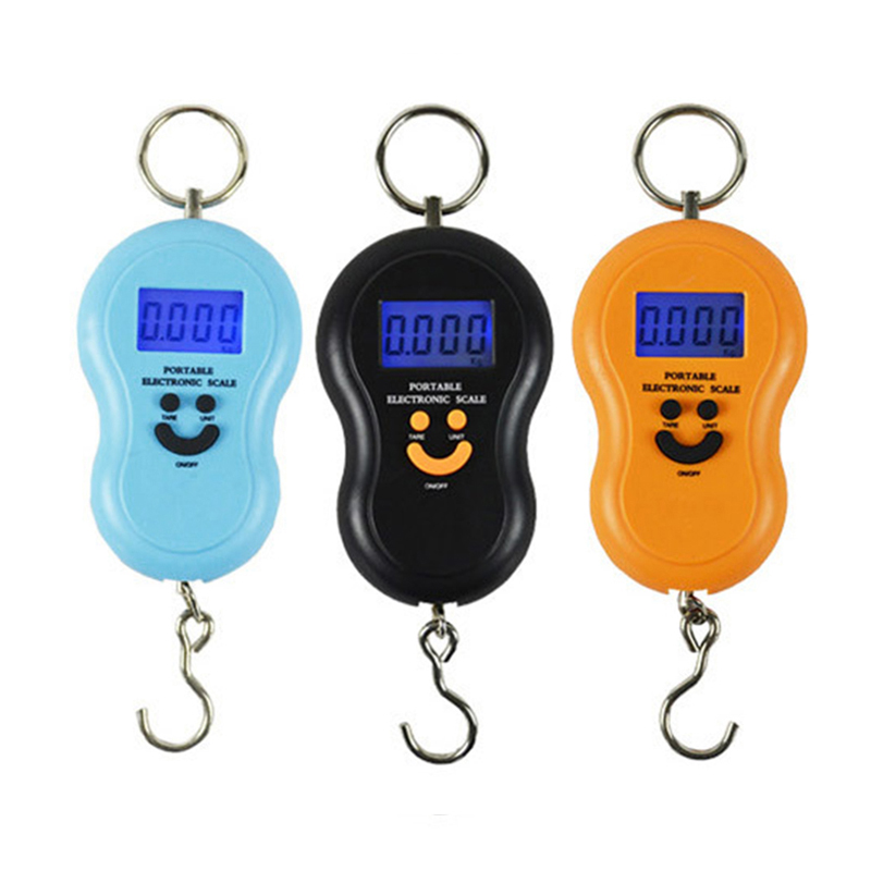 50Kg /10g LCD Digital Scales Portable Hanging Scale BackLight Fishing Pocket Electronic Weight Scale Luggage Mini Scale