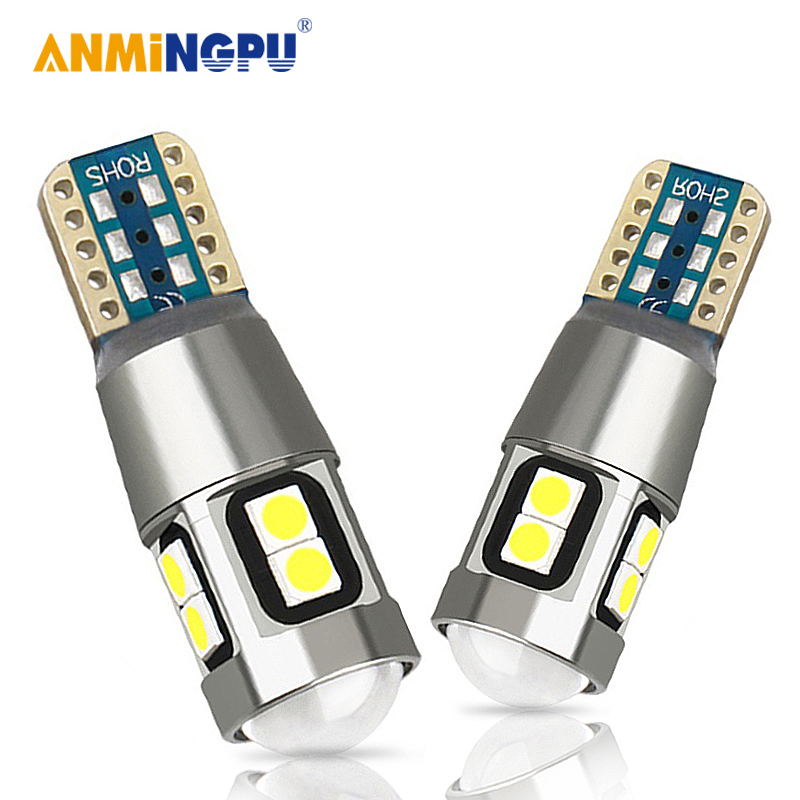 Pair Quad LED Sidelight Interior Number Plate Parking Light Bulbs Ba9S 233 T4W