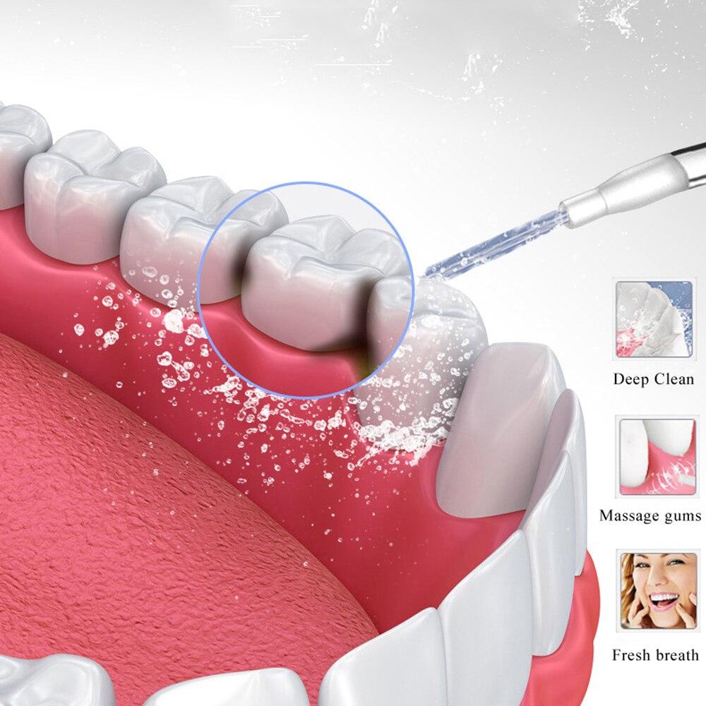 flosser usb recarregavel agua fio dental dente 160ml ipx7 novo 3 modos 05