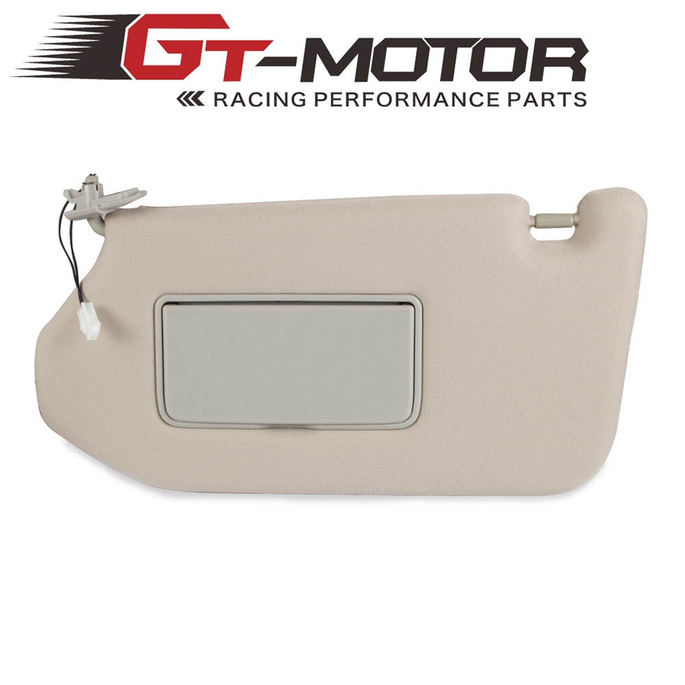 Left Driver Sun Visor for Nissan Pathfinder 2013-2019 <font><b>Infiniti</b></font> <font><b>QX60</b></font> 2014 2015 2016-2019 <font><b>JX35</b></font> 2013 With Lamp Replace 964009PB0A image